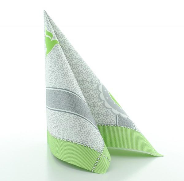 Servietten Kelch-Taube in Grün aus Linclass® Airlaid 40 x 40 cm, 50 Stück