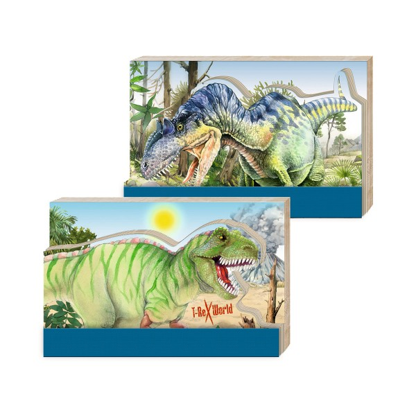 T-Rex World Notizblock, ca. 11x7cm