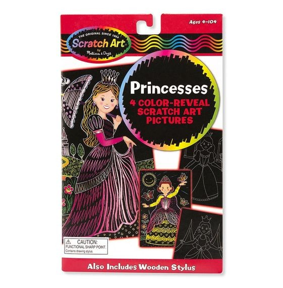 Kratzbilder Prinzessin, 4 Stück