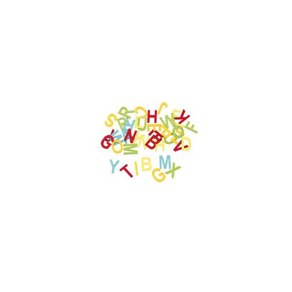 Konfetti Buchstaben aus Filz, bunt, 40 Stück