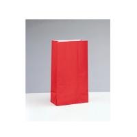 Partytüten aus Papier, rot/ rubin, 12 Stück