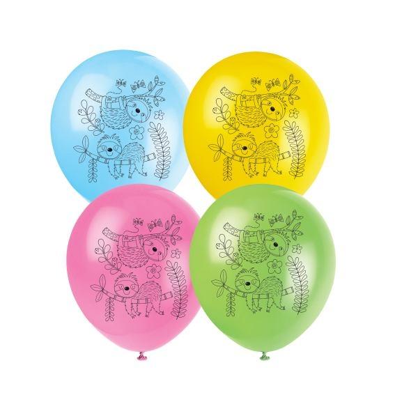 Luftballons Faultiere, 8 Stück