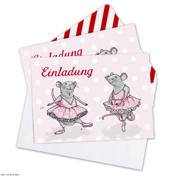 Einladung Ballettratte, 6 St