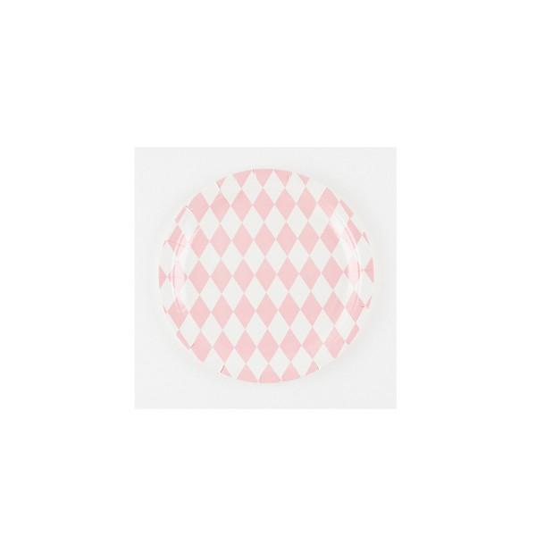 T1142672-Pappteller-Raute-rosa-23cm-8-Stueck