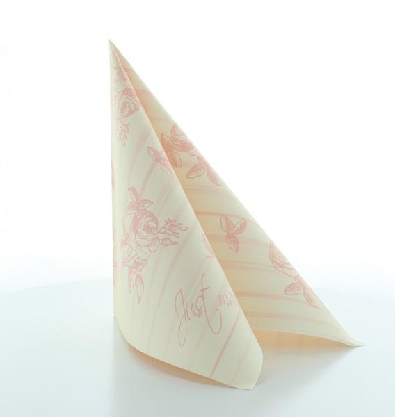 Serviette Hochzeit in Champagner-Rose aus Linclass® Airlaid 40 x 40 cm, 12 Stück