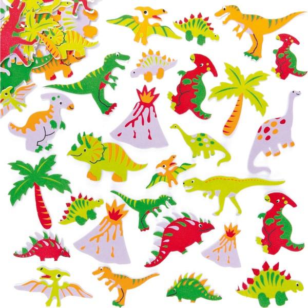 Moosgummi-Aufkleber Dino, 102 Stück