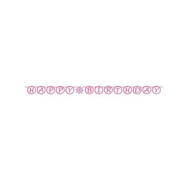 Buchstabengirlande Ballerina, 1,7m