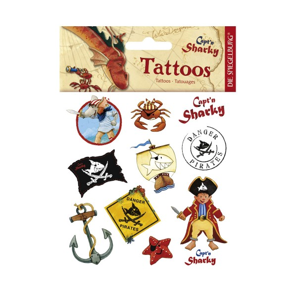 Capt'n Sharky Tattoos, verschiedene Piratenmotive