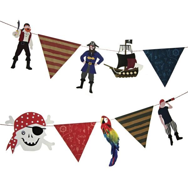 Wimpelkette Pirat, 3,5m
