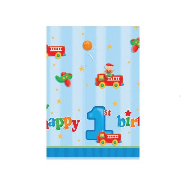 Tischdecke 1. Geburtstag, 137x274cm