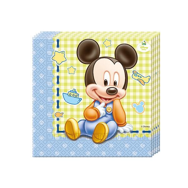 T1142343-Servietten-Baby-Mickey-33cm-20-Stueck