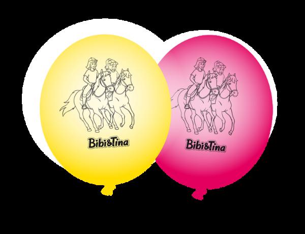Luftballons Bibi & Tina, 8 Stück