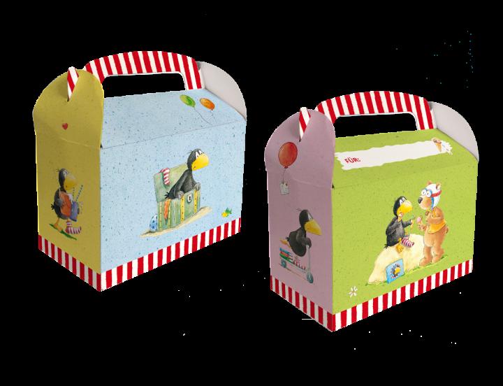 Geschenkboxen der kleine Rabe Socke, 15x8x9,5cm, 6 Stück