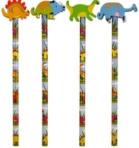 Bleistift Dino mit Radierer, 1 Stück