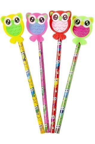 Bleistift mit Eule Set, verschiedene Ausführungen, 4 Stück