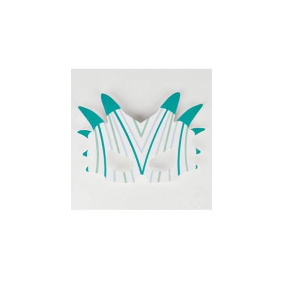 Masken aus Pappe Dino, 8 St