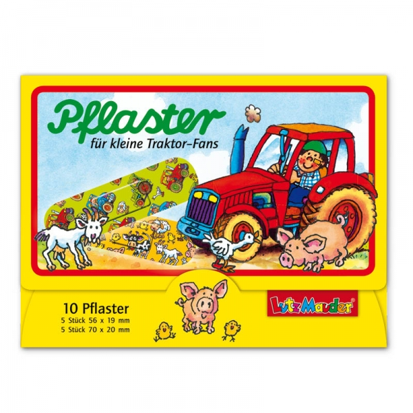 Pflasterbriefchen Traktor, 10 Stück