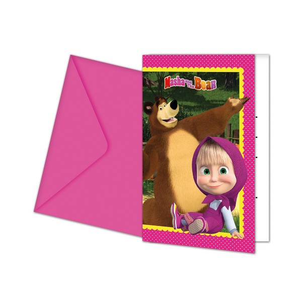 Einladungen mit Umschlag Masha und der B