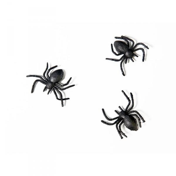 Deko-Spinnen, schwarz, 10 St