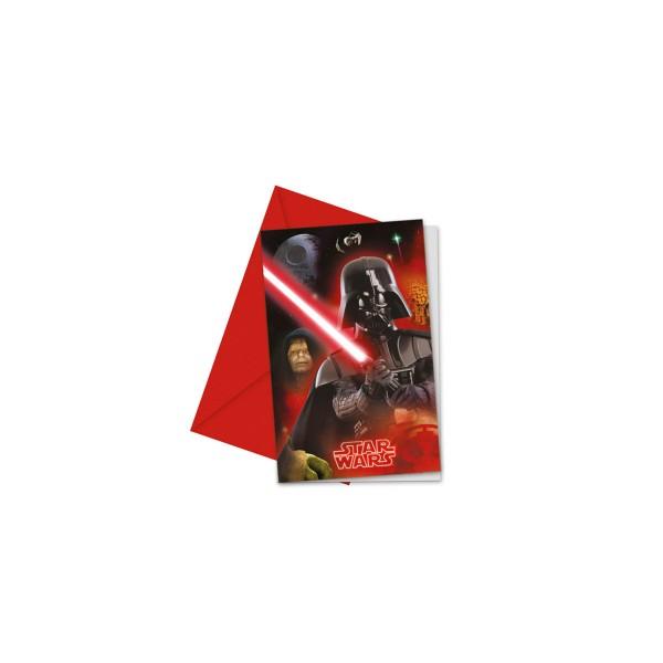Star Wars Einladungen mit Umschl