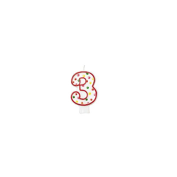 Zahlenkerze 3