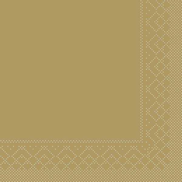 Servietten Gold, 33cm, 20 Stück