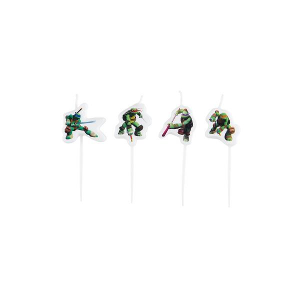 T1142246-Minikerzen-Ninja-Turtles-4-Stueck