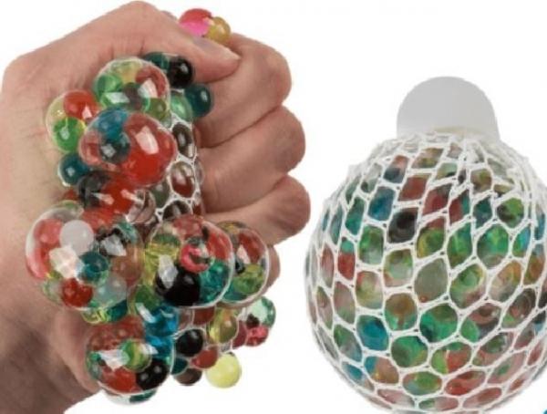 Squishy Mesh Ball, Quetschball, 6,5 cm, 1 Stück