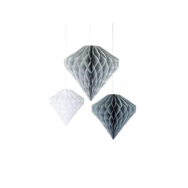 Wabendeko Diamanten silber und wei