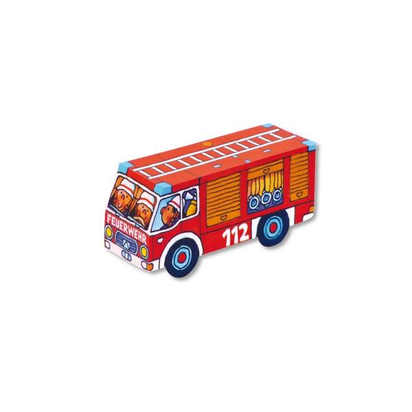 Faltspiel Feuerwehrauto, 8 Stück im Set