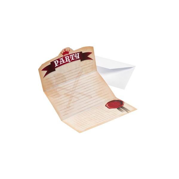 Einladungskarten Ritter, 8 Stück