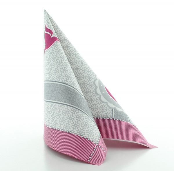 Servietten Kelch-Taube in Pink aus Linclass® Airlaid 40 x 40 cm, 50 Stück