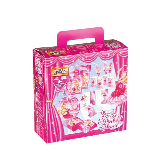 Partykoffer Barbie, 56-teilig