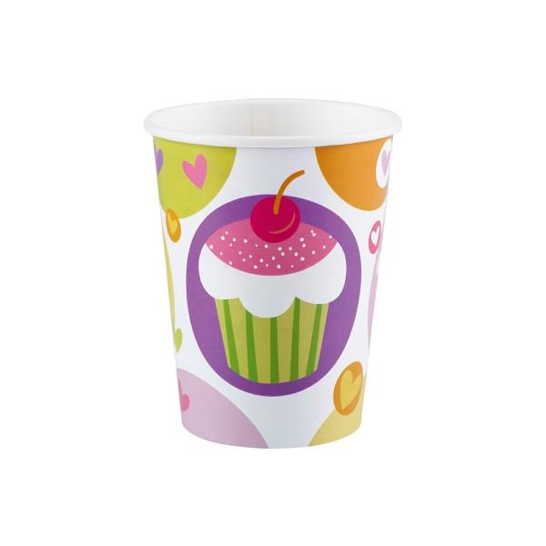 Pappbecher Cupcakes, 266ml, 8 Stück