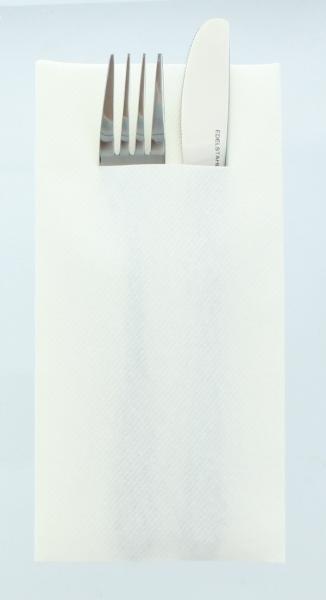 Besteckservietten Weiß, 40cm, 12 Stück