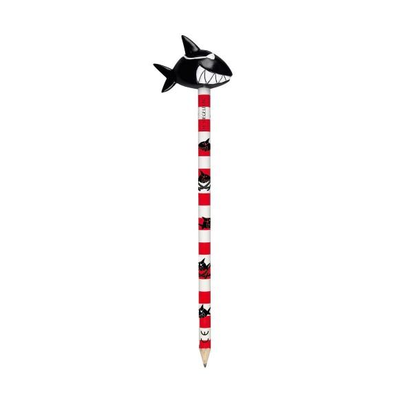 Capt'n Sharky Bleistifte, rot-wei