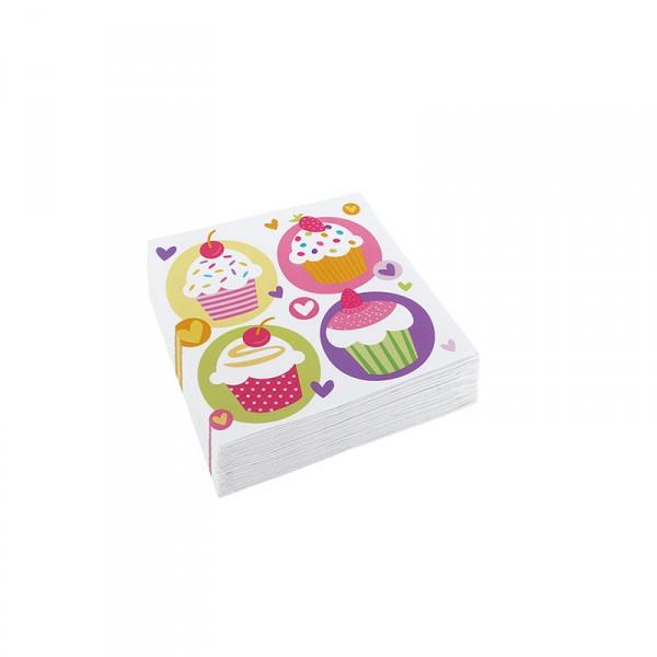 Servietten Cupcakes, 33x33cm, 8 Stück