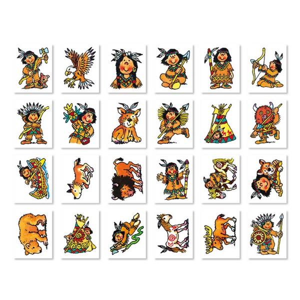 Mini-Tattoo Set Indianer, 24-teilig