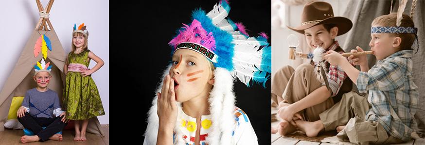 Feiern Sie mit Ihren kleinem Indianer ein fröhliches Fest! • Fotos: vombatic, kameel, Alexandr Vasilyev / Fotolia.com