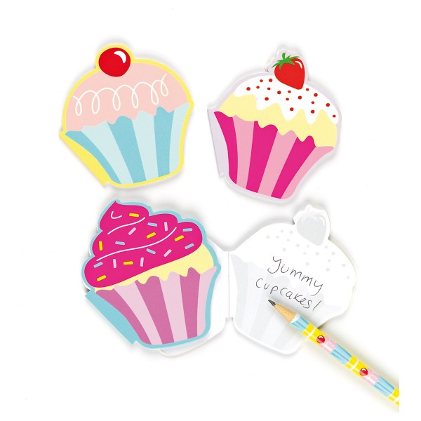 Notizblöcke Cupcake, duftend, 6 Stück