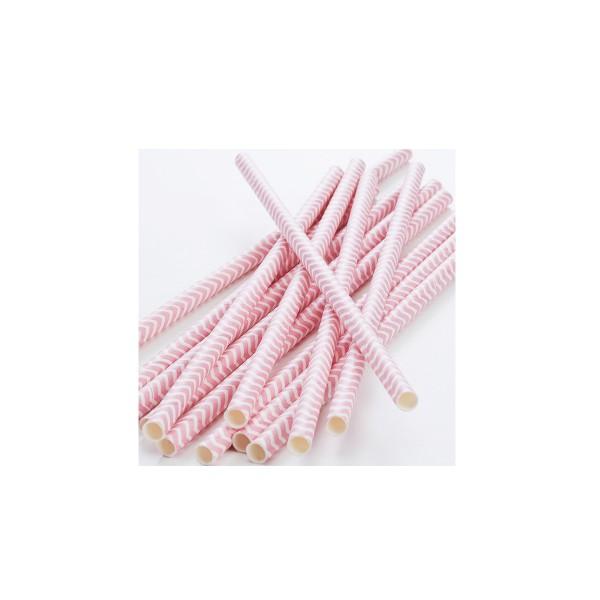 Strohhalme-aus-Papier-rosa-weiss-gestreift
