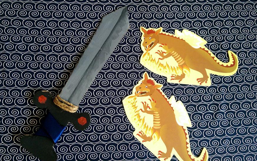 Jeder Ritter braucht ein Schwert. Wie soll man sich sonst einenm Drachen gegenüberstellen?