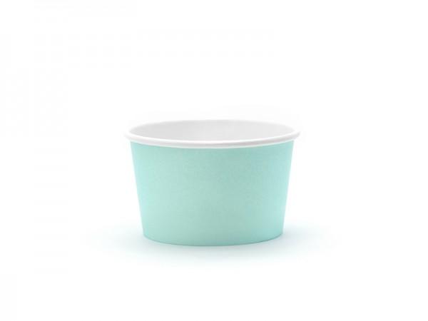 Eis- und Nasch-Becher, 170 ml, Pastell-Türkis Hawaii, 6 Stück