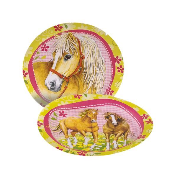 Pappteller Pferde,