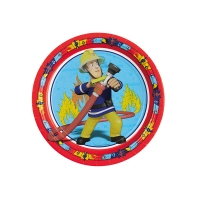 Pappteller Feuerwehrmann Sam, ø 23cm, 8 Stück