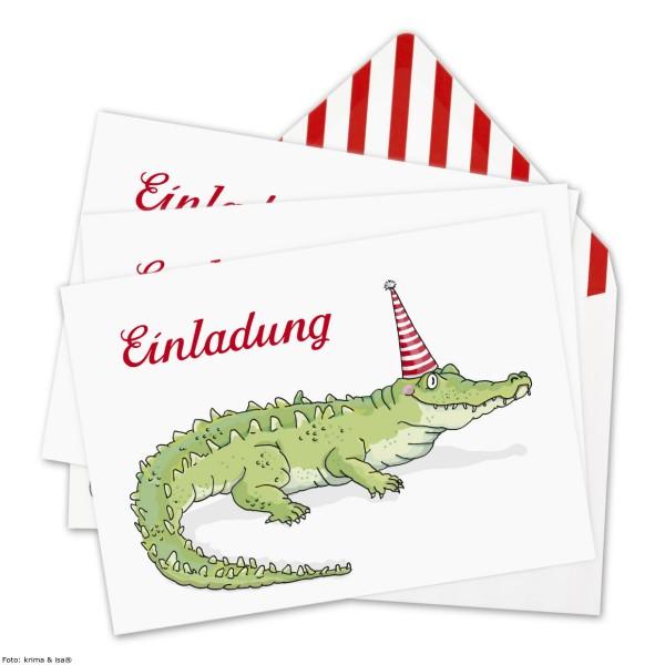 Einladung Krokodil, 6 St