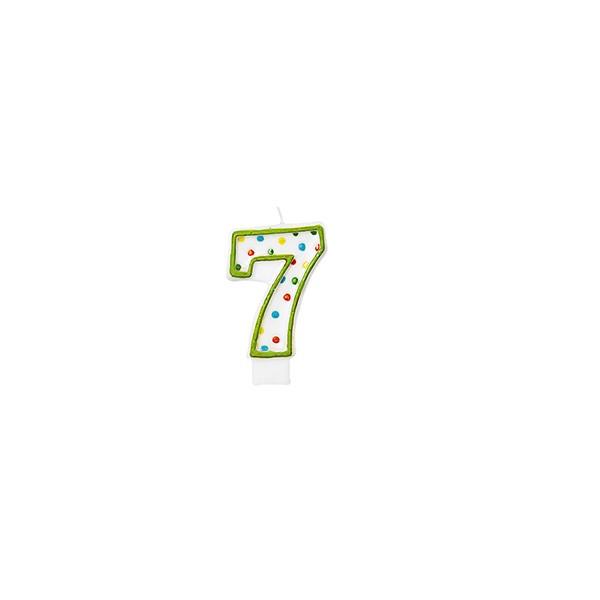 Zahlenkerze 7