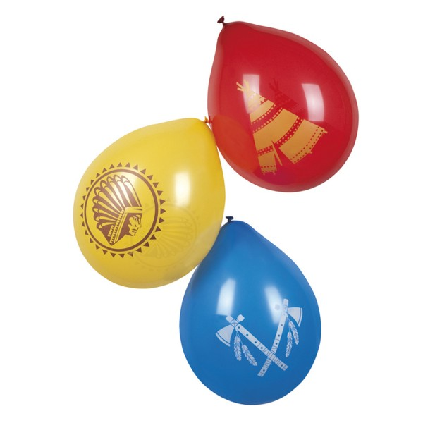 Luftballons Indianer, 25cm, 6 St