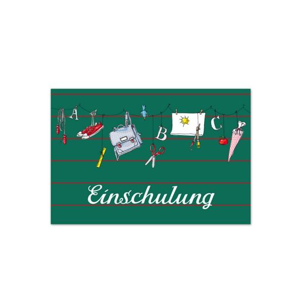 Postkarte Einschulung, 1 Stück