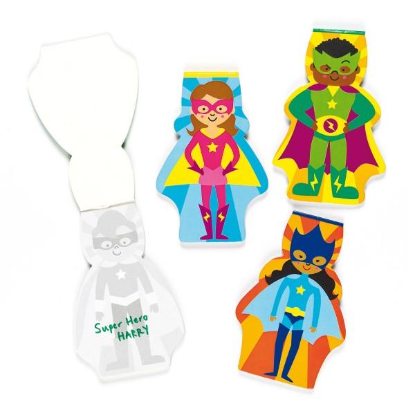 Notizblöcke Superhelden, 8 Stück